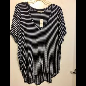 NWT Express One Eleven London Top. Navy/White XL